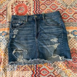 American Eagle High-Waisted Denim Skirt